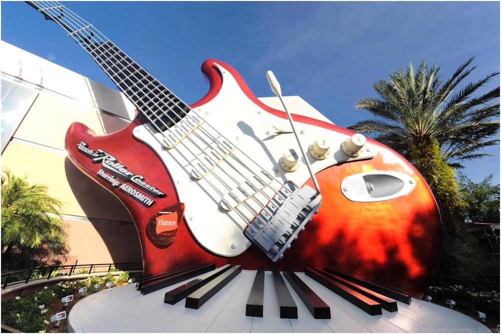 ROCK ON!:  A 40-foot-tall electric guitar and giant keyboard adorn the exterior of the