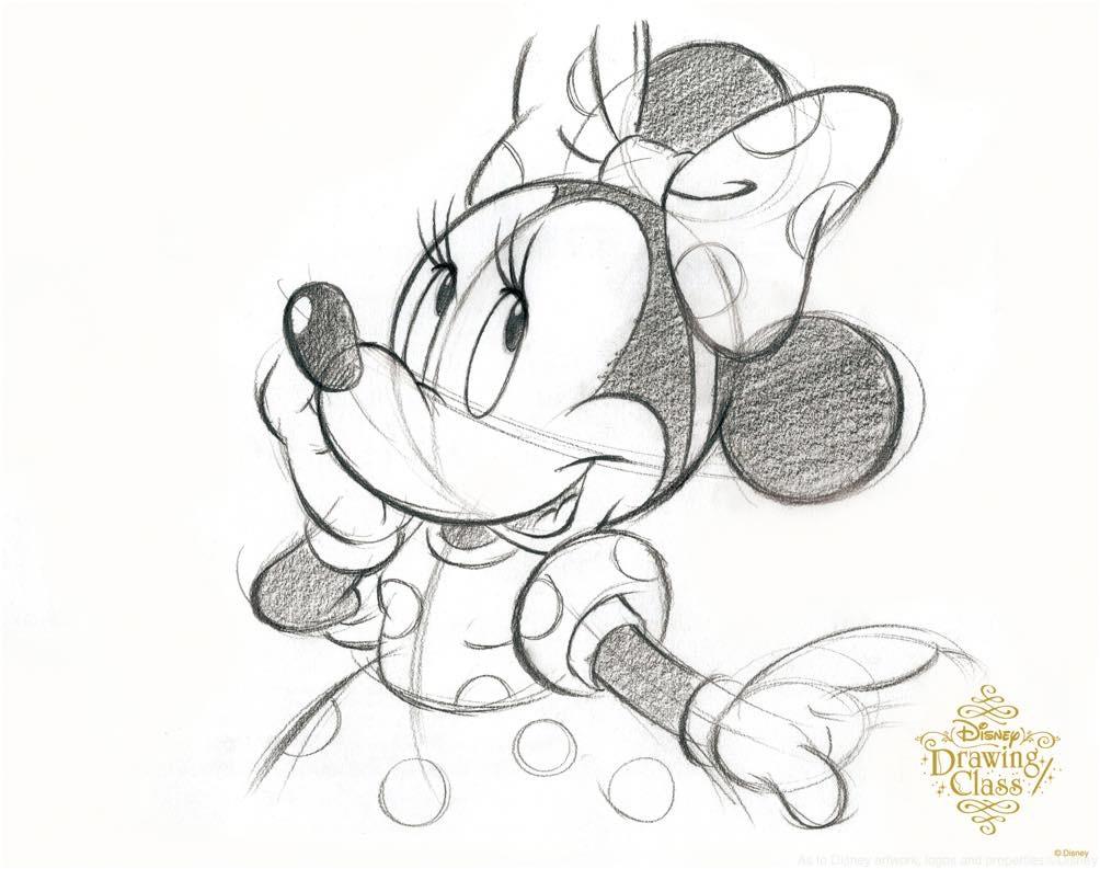 「ミニーマウス」(通常開講中のスタンダードコースのイラスト) (c)Disney