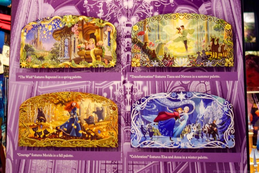 こちらはモザイクで作った「Princesses of the Four Seasons」。