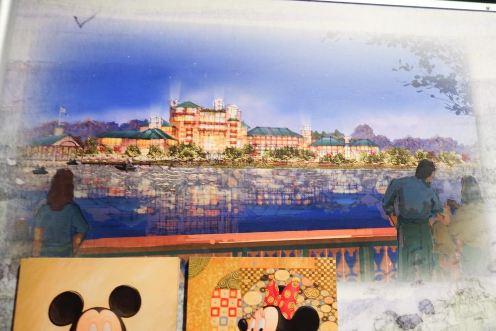 上海ディズニーランドホテル全景アート
