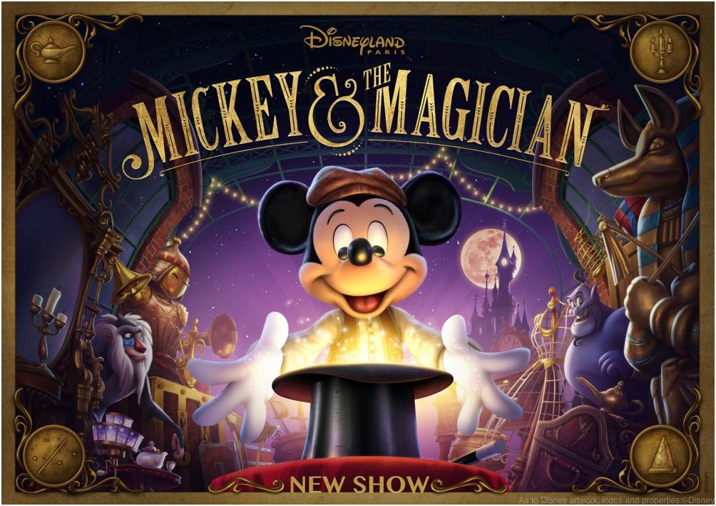 "Guests will be able to enjoy ""Mickey and the Magician"", a brand new show at Disneyland Paris specially created for Walt Disney Studios Park, starring the mouse who started it all. (c)Disney"