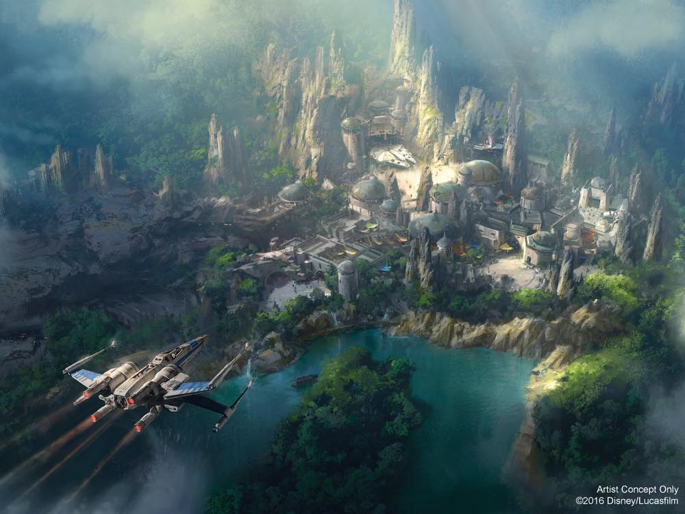 New Artwork Revealed for Star Wars-Themed Land Under Construction at the Disneyland Resort (c)Disney/Lucasfilm