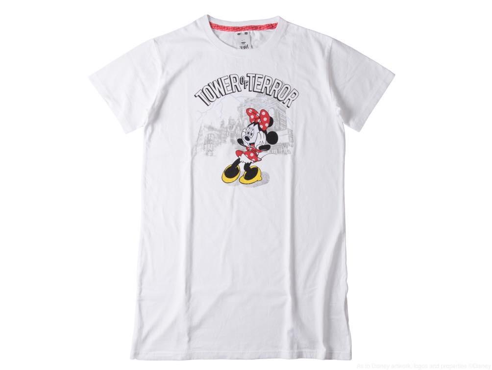 X-girl Tシャツワンピース/カラー:ブラック・ホワイト/サイズ:フリーサイズ/価 格:9500円 (c)Disney