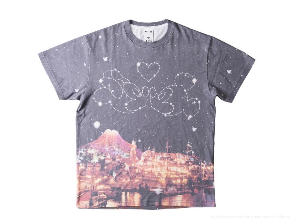 X-girl Tシャツ/カラー:ブラック/サイズ:フリーサイズ/価格:9800円 (c)Disney