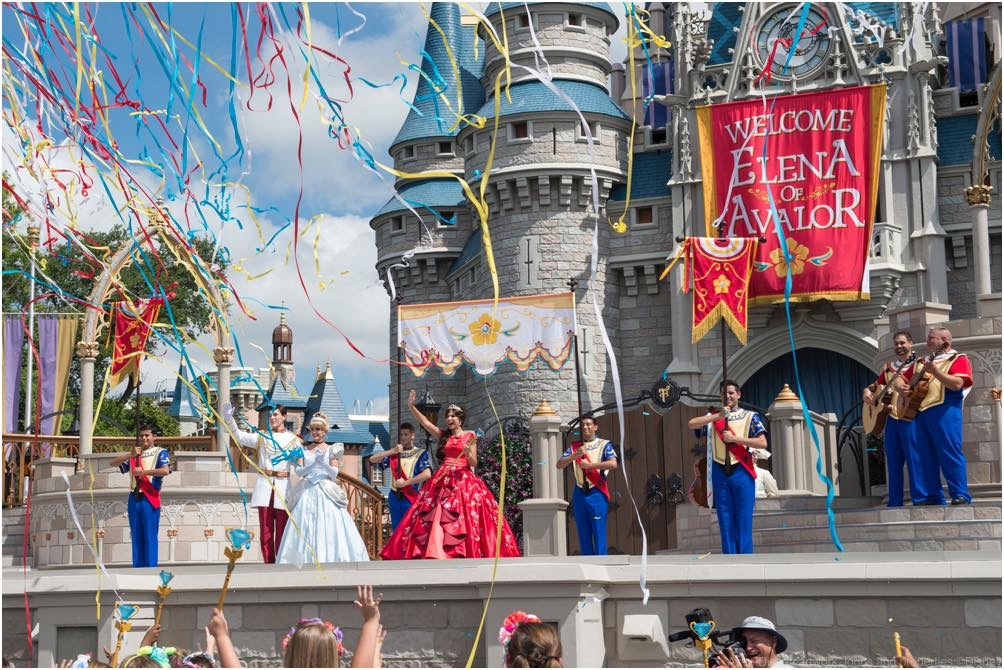 "Princess Elena of Avalor, the first Latin-inspired Disney princess, receives a royal welcome on Aug. 11, 2016 during her arrival at Magic Kingdom Park in Lake Buena Vista, Fla. Princess Elena's arrival at Walt Disney World follows the debut of the new Disney Channel animated series, ""Elena of Avalor."" The adventurous princess appears daily in ""The Royal Welcome of Princess Elena"" stage show at Magic Kingdom. (David Roark, photographer)"