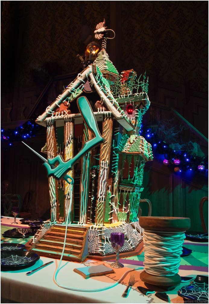 HAUNTED MANSION HOLIDAY GINGERBREAD HOUSE As to Disney artwork, logos and properties:©Disney
