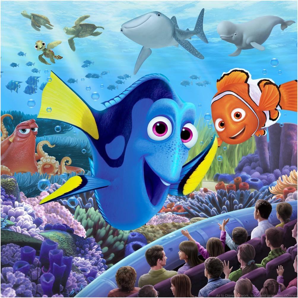 ニモ&フレンズ・シーライダー アトラクションイメージ  ©Disney/Pixar