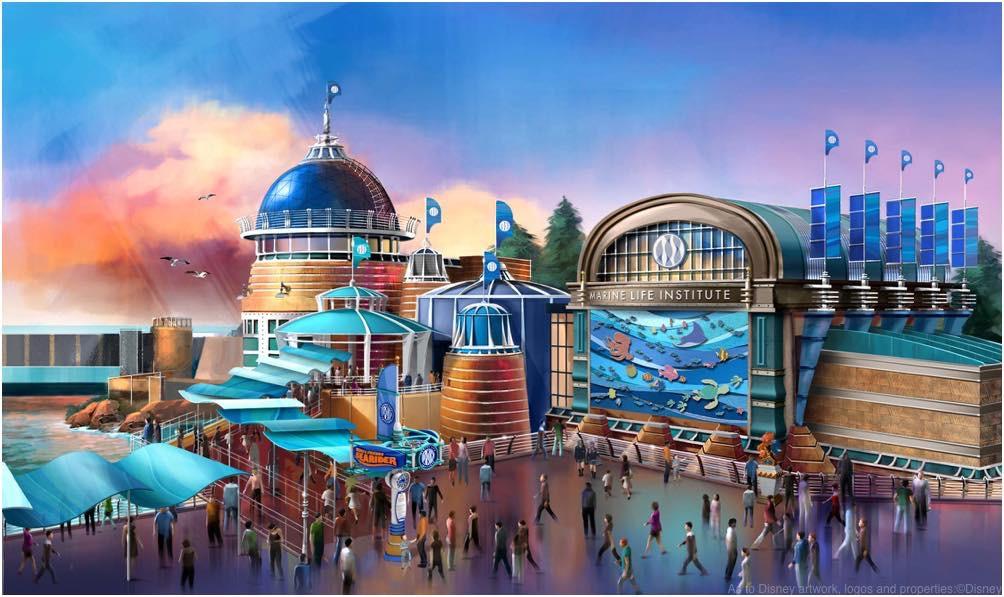 ニモ&フレンズ・シーライダー 外観イメージ  ©Disney/Pixar