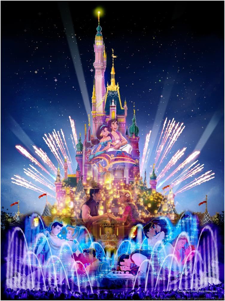 Castle Nighttime Spectaular (c)Disney