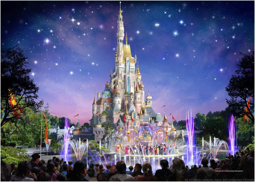 HKDL castle (c)Disney