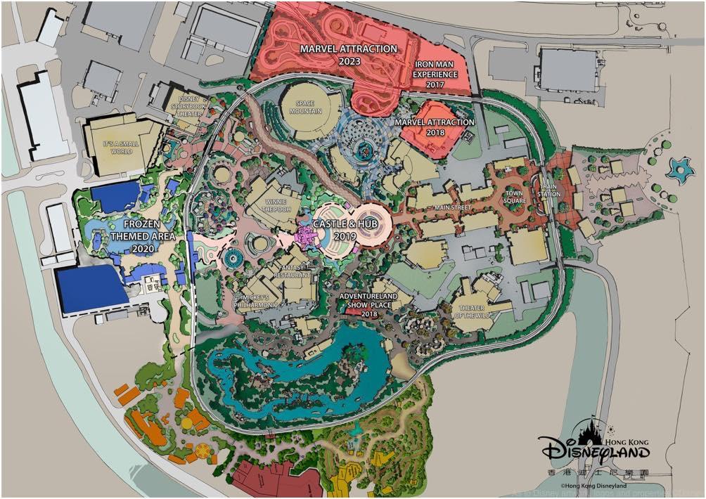香港ディズニーランドエリア拡張図 (c)Disney