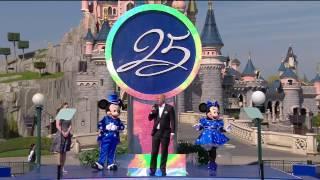 ディズニーランド・パリ25周年、プレスプレビューを生中継